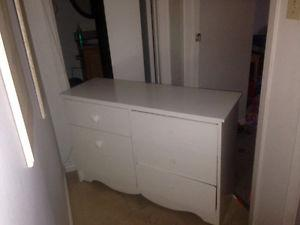2 White Dressers And White Bookcase All For $