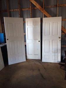 3 interior doors