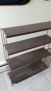 4 shelf metal storage unit.