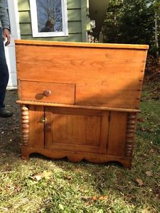 Antique pine commode/cupboard
