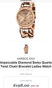 Arkibos ladies rose gold watch
