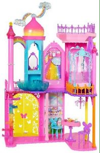 Barbie rainbow cove princess castle brand new in box