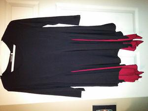 Black and red dressy shirt, new with tags