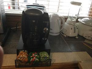 Bosch coffee maker and coffee shelve