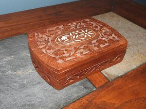 Carved decorative box