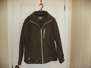 Chillax Medium Brown Ladies Winter Jacket with Hood, Size L