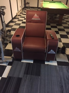 Coors Light Football Recliner with built in cooler in arm