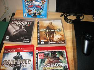 FOR SALE PLAYSTATION 3, FIVE GAMES, 320 GIG HARD DRIVE,
