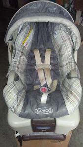 Graco car seat (infant carrier and base)