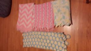 Hand knit baby blankets