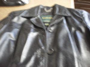 Ladies Black Danier Leather Jacket