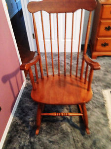Low seated solid wood Rocking Chair