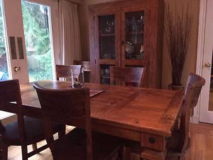 Mexican style dinning room set with 8 chairs