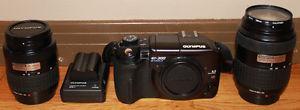 Olympus EVOLT E-300 Digital SLR Camera & 2 Lenses