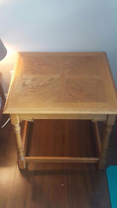Solid Wood Side Table - Made in Canada!