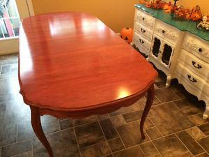 Solid wood antique table and chairs $ono