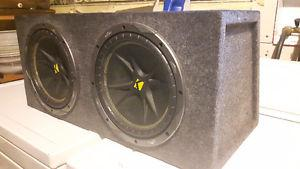 Two 10-inch KICKER Comp subs and box