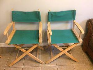 Two Director style chairs