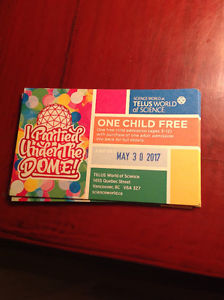 Vancouver Science World child admission tickets