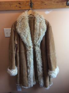 Winter leather coat /manteau d'hiver en cuir
