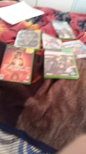 Xbox for sale with 6 games and all hook ups and cords