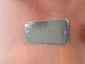 iPhone 5 with cracked screen
