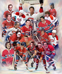 """16"""" X 20"""" Canvas Print Montreal Canadiens 100 Years"""