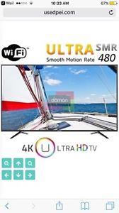65 inch 4K tv smart wifi year old smoke free