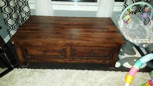 All oak 4 drawer coffee table or TV table