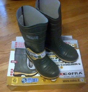 Brand new Cofra steel toe rubber boots, brand new still in
