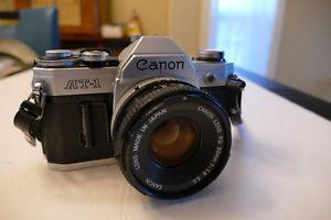 Canon AT-1 35mm reflex/ 50mm FD lens in good condition