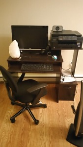 Computer desk and chair only.