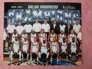 "Dallas Mavericks  Championship 10"" x 8"" Team Photo"