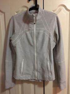 Lululemon define jacket grey and white size 10