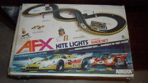 SLOT CAR RACING SET -- 2 CARS, 2 CONTROLLERS EXC WORKING