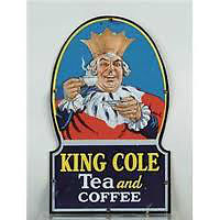 Wanted: WANTED: OLD METAL KING COLE TEA COFFEE SIGNS DOOR