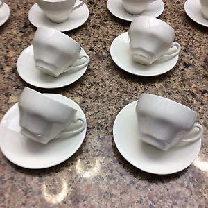 Wedge wood cups and saucers
