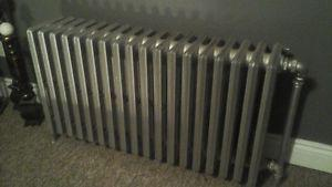 cast iron hot water rads