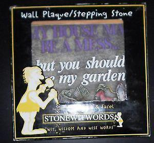 new in box whimsical stepping stone/ wall plaque