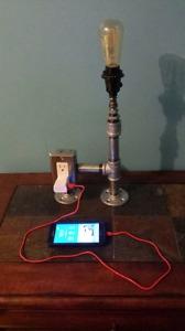 3/4 Galvanized pipe lamp