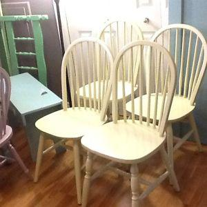 4 hint of lime chairs
