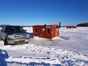 8X12 foot ice fishing shack