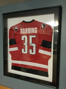 Autographed HARDING Team Canada Jersey