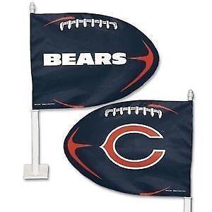 Chicago Bears Football Style Car Flag (New)