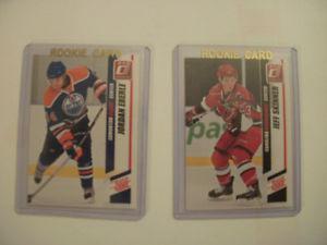 Donruss hockey Eberle and Skinner rookie cards
