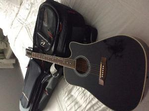 Guitar with soft shell case