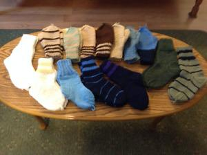 Hand Knit Child & Youth Socks & Mitts
