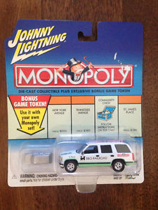 Johnny Lightning Monopoly & Hot Wheels Die Cast Cars