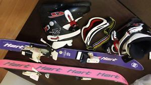 Kids skis and boots and Goggles