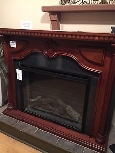 Napoleon electric fireplace mantle package